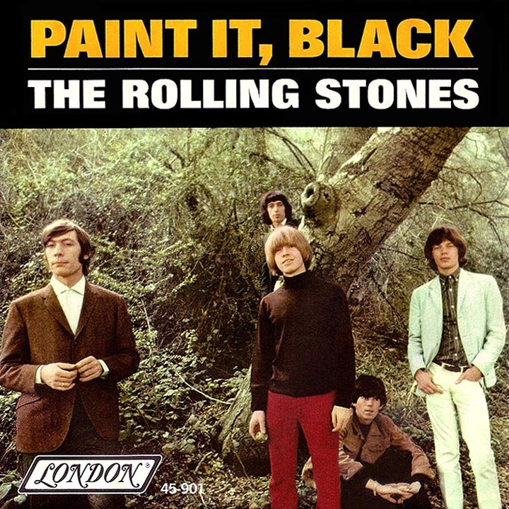 Red Door Painted Black Rolling Stones